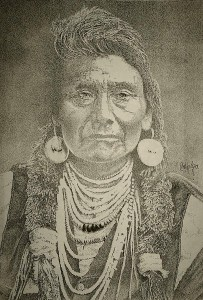 """Chief Joseph"" Drawing by Carlos David From howtodraw.co.uk"